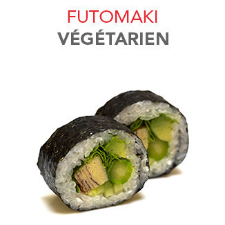 Futomaki Végétarien - 7.05€ / 5 Pce