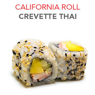 California Roll Crevette Thai - 5.55€ / 6 Pce