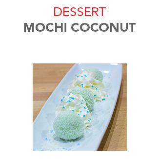 Dessert Mochi coconut - 6.00€ / 3 Pce