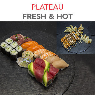 Plateau Fresh & Hot - 55.30€ / 34 Pcs / 2 Pers