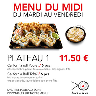 Plateau 1 - 11.50€ / 14 Pce / 1 Pers
