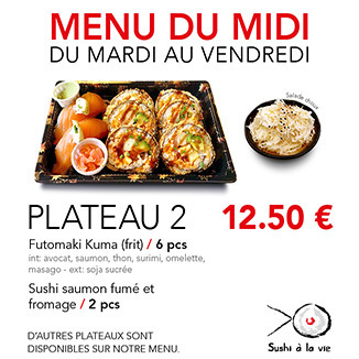 Plateau 2 - 12.50€ / 8 Pce / 1 Pers