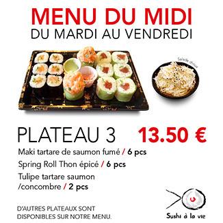 Plateau 3 - 13.50€ / 14 Pce / 1 Pers