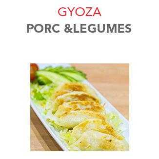 Gyoza Porc et légumes (frit) - 6.00 € / 6 Pcs