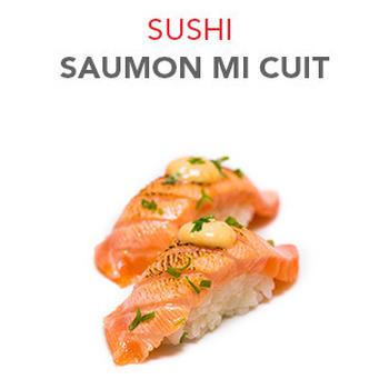 Sushi Saumon mi cuit - 2 Pcs