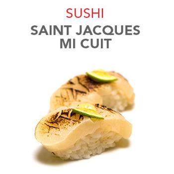 Sushi Saint Jacques mi cuit - 6.20€ / 2 Pcs