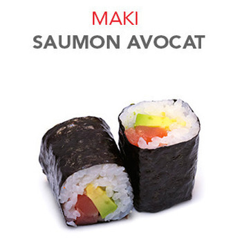 Maki Saumon avocat - 5.50€ / 6 Pce