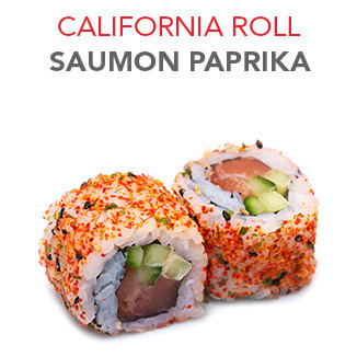 California Roll Saumon paprika - 5.60€ / 6 Pce