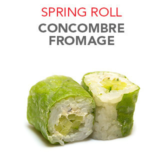 Spring Roll Concombre fromage - 5.50€ / 6 Pce