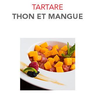 Tartare Thon et mangue - 15.50€ / Pce