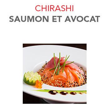 Chirashi Saumon et avocat - 15.50€ / Pce