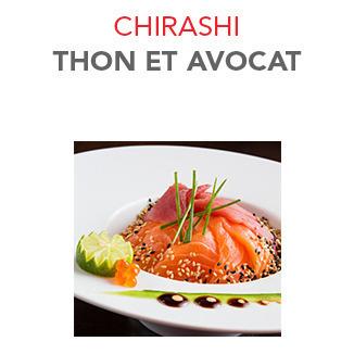 Chirashi Thon et avocat - 16.40€ / Pce