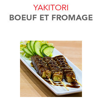 Yakitori Boeuf et fromage - 7.10€ / 3 Pces