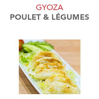 Gyoza Poulet et légumes - 6.20 € / 6 Pces