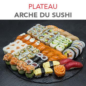 Plateau Arche du sushi - 70.50€ / 62 Pcs / 3 Pers