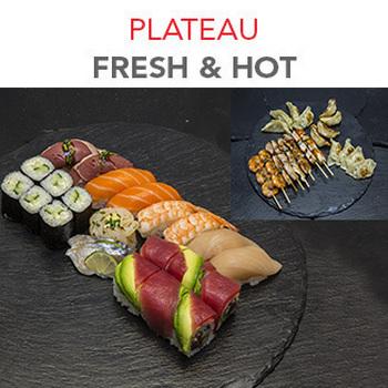 Plateau Fresh & Hot - 55.30€ / 34 Pcs / 2 Pers