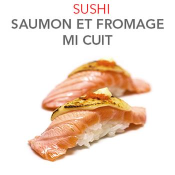 Sushi Saumon et fromage mi cuit 5.00€ / 2 Pcs