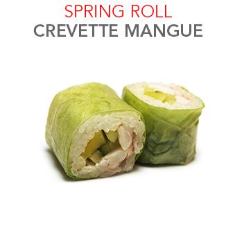 Spring Roll Crevette Mangue - 6.40 € / 6 Pce