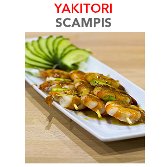 Yakitori Scampis - 9.80€ / 3 Pces