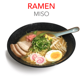 MISO RAMEN + 3 GYOZAS