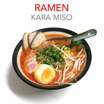 KARA MISO RAMEN + 3 GYOZAS