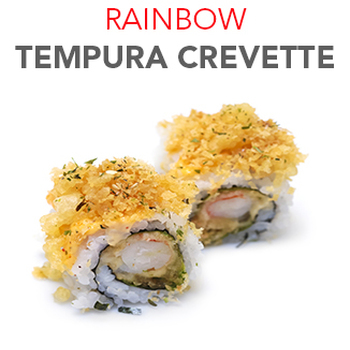 Rainbow Tempura de crevette - 7.50€ / 8 Pcs
