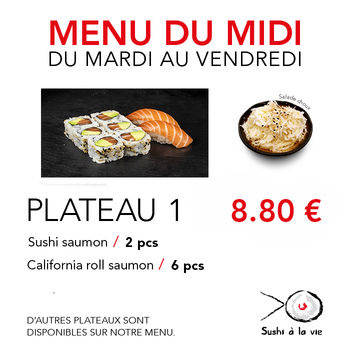 Plateau 1 - 8.80€ / 8 Pce / 1 Pers