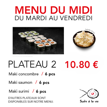 Plateau 2 - 10.80€ / 18 Pce / 1 Pers