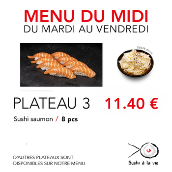 Plateau 3 - 11,40€ / 8 Pce / 1 Pers