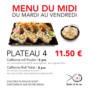 Plateau 4 - 11,50€ / 14 Pce / 1 Pers