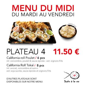 Plateau 4 - 14 Pcs + salade de choux