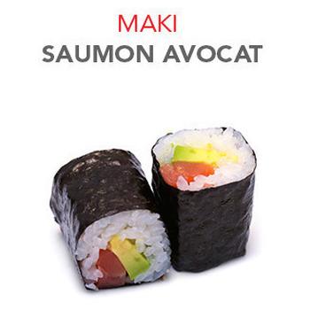Maki Saumon avocat - 6 Pcs