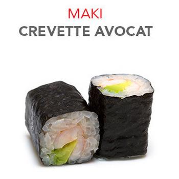 Maki Crevette avocat - 6 Pcs