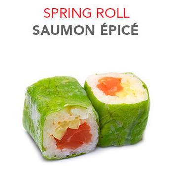 Spring Roll Saumon épicé - 6 Pcs