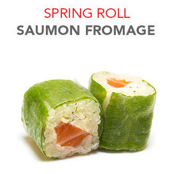 Spring Roll Saumon fromage - 6 Pcs