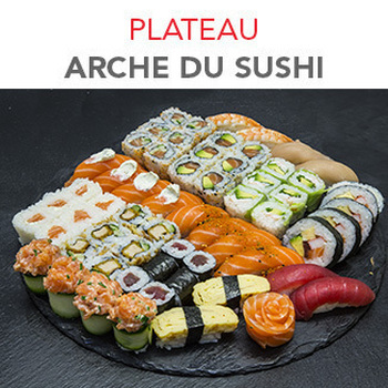 Plateau Arche du sushi - 62 Pcs / 3 Pers