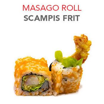 Masago Roll Scampis frit - 8 Pcs