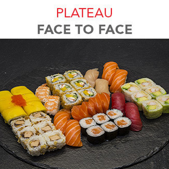 Plateau face to face - 45 Pcs / 2 Pers