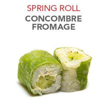 Spring Roll Concombre fromage - 6 Pcs