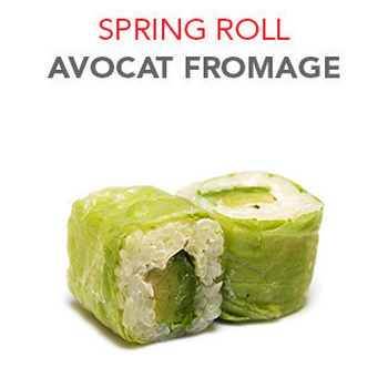 Spring Roll Avocat fromage - 6 Pcs